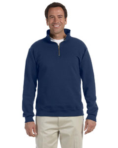 J Navy 9.5 oz., 50/50 Super Sweats® NuBlend® Fleece Quarter-Zip Pullover