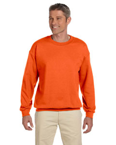 Safety Orange 9.5 oz., 50/50 Super Sweats® NuBlend® Fleece Crew