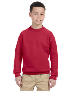 True Red Youth 9.5 oz., 50/50 Super Sweats® NuBlend® Fleece Crew
