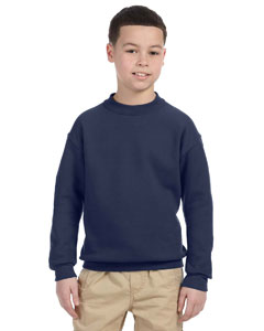 J Navy Youth 9.5 oz., 50/50 Super Sweats® NuBlend® Fleece Crew