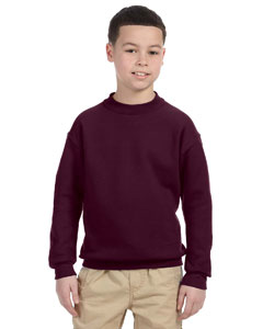 Maroon Youth 9.5 oz., 50/50 Super Sweats® NuBlend® Fleece Crew
