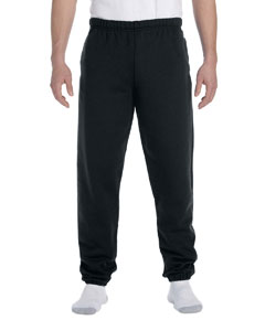 Black 9.5 oz., 50/50 Super Sweats® NuBlend® Fleece Pocketed Sweatpants