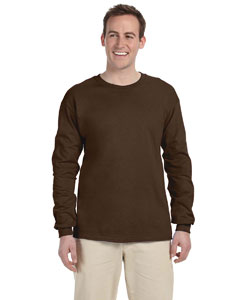 Chocolate 5 oz., 100% Heavy Cotton HD® Long-Sleeve T-Shirt