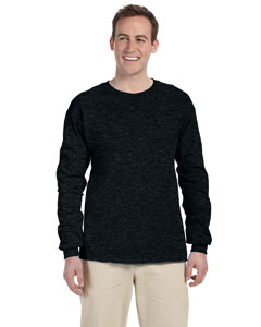 Black Heather 5 oz., 100% Heavy Cotton HD® Long-Sleeve T-Shirt
