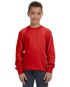 True Red Youth 5 oz., 100% Heavy Cotton HD® Long-Sleeve T-Shirt