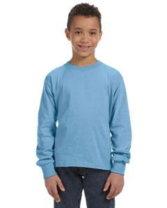 Light Blue Youth 5 oz., 100% Heavy Cotton HD® Long-Sleeve T-Shirt