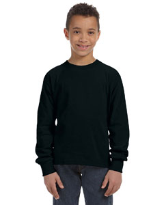 Black Youth 5 oz., 100% Heavy Cotton HD® Long-Sleeve T-Shirt