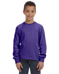 Purple Youth 5 oz., 100% Heavy Cotton HD® Long-Sleeve T-Shirt