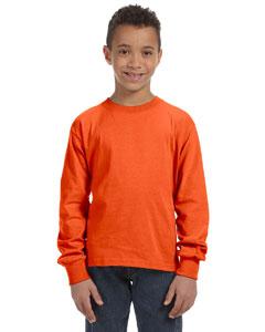 Burnt Orange Youth 5 oz., 100% Heavy Cotton HD® Long-Sleeve T-Shirt