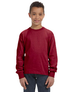 Maroon Youth 5 oz., 100% Heavy Cotton HD® Long-Sleeve T-Shirt