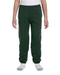 Forest Green Youth 9.5 oz., 50/50 Super Sweats® NuBlend® Fleece Pocketed Sweatpants