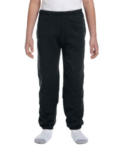 Black Youth 9.5 oz., 50/50 Super Sweats® NuBlend® Fleece Pocketed Sweatpants