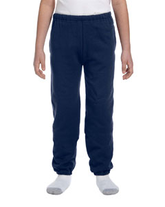 J Navy Youth 9.5 oz., 50/50 Super Sweats® NuBlend® Fleece Pocketed Sweatpants