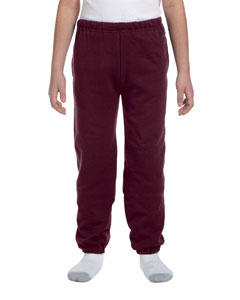 Maroon Youth 9.5 oz., 50/50 Super Sweats® NuBlend® Fleece Pocketed Sweatpants