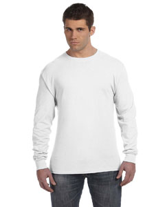 White 4.5 oz., 100% Ringspun Cotton nano-T® Long-Sleeve T-Shirt