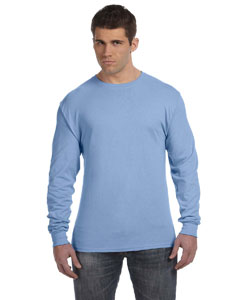 Light Blue 4.5 oz., 100% Ringspun Cotton nano-T® Long-Sleeve T-Shirt