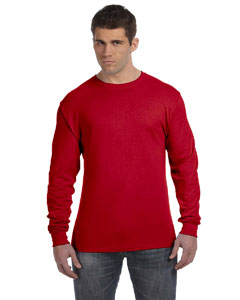 Deep Red 4.5 oz., 100% Ringspun Cotton nano-T® Long-Sleeve T-Shirt