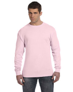 Pale Pink 4.5 oz., 100% Ringspun Cotton nano-T® Long-Sleeve T-Shirt