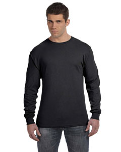 Black 4.5 oz., 100% Ringspun Cotton nano-T® Long-Sleeve T-Shirt