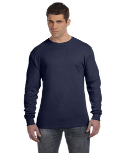 Navy 4.5 oz., 100% Ringspun Cotton nano-T® Long-Sleeve T-Shirt