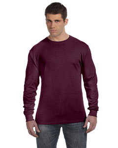 Maroon 4.5 oz., 100% Ringspun Cotton nano-T® Long-Sleeve T-Shirt