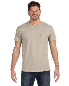 Vintage Khaki 4.5 oz., 100% Ringspun Cotton nano-T® T-Shirt with Pocket