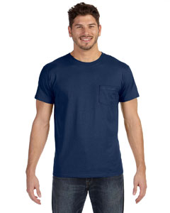Vintage Navy 4.5 oz., 100% Ringspun Cotton nano-T® T-Shirt with Pocket