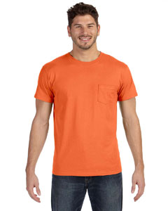 Vintage Orange 4.5 oz., 100% Ringspun Cotton nano-T® T-Shirt with Pocket