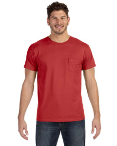 Vintage Red 4.5 oz., 100% Ringspun Cotton nano-T® T-Shirt with Pocket