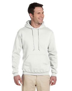 White 9.5 oz., 50/50 Super Sweats® NuBlend® Fleece Pullover Hood