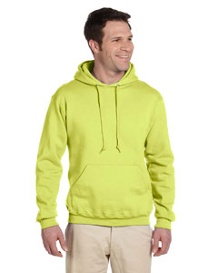 Safety Green 9.5 oz., 50/50 Super Sweats® NuBlend® Fleece Pullover Hood