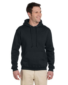 Black 9.5 oz., 50/50 Super Sweats® NuBlend® Fleece Pullover Hood