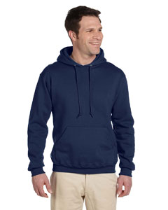 J Navy 9.5 oz., 50/50 Super Sweats® NuBlend® Fleece Pullover Hood
