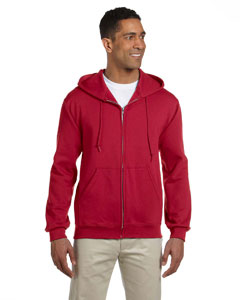 True Red 9.5 oz., 50/50 Super Sweats® NuBlend® Fleece Full-Zip Hood
