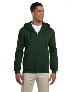 Forest Green 9.5 oz., 50/50 Super Sweats® NuBlend® Fleece Full-Zip Hood