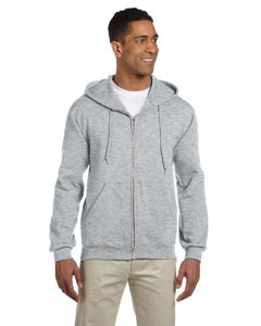 Ash 9.5 oz., 50/50 Super Sweats® NuBlend® Fleece Full-Zip Hood