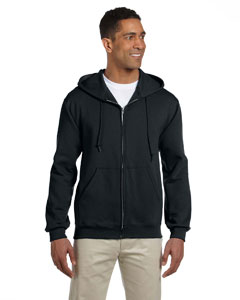 Black 9.5 oz., 50/50 Super Sweats® NuBlend® Fleece Full-Zip Hood