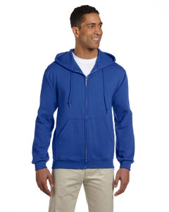 Royal 9.5 oz., 50/50 Super Sweats® NuBlend® Fleece Full-Zip Hood