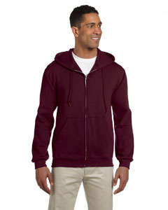 Maroon 9.5 oz., 50/50 Super Sweats® NuBlend® Fleece Full-Zip Hood