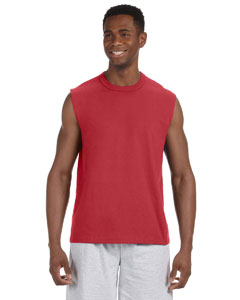True Red 5 oz. HiDENSI-T® Sleeveless T-Shirt