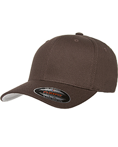 Brown 6-Panel Structured Mid-Profile Cap