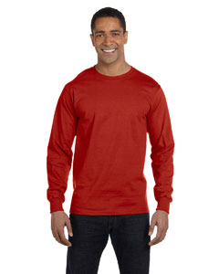 Deep Red 6.1 oz. Long-Sleeve Beefy-T®