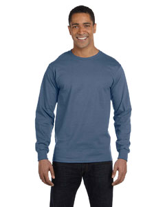 Denim Blue 6.1 oz. Long-Sleeve Beefy-T®