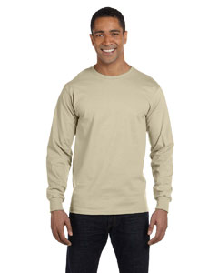Sand 6.1 oz. Long-Sleeve Beefy-T®