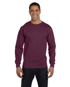 Maroon 6.1 oz. Long-Sleeve Beefy-T®