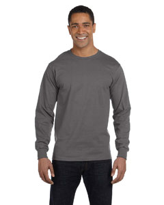 Smoke Gray 6.1 oz. Long-Sleeve Beefy-T®