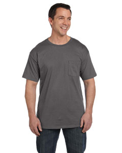 Smoke Gray 6.1 oz. Beefy-T® with Pocket