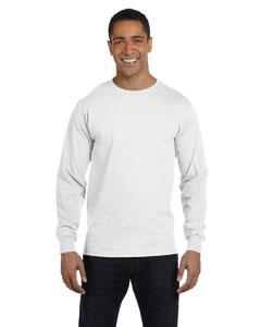 White 5.2 oz. ComfortSoft® Cotton Long-Sleeve T-Shirt