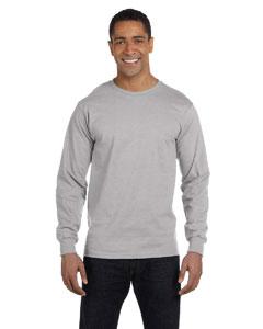 Light Steel 5.2 oz. ComfortSoft® Cotton Long-Sleeve T-Shirt
