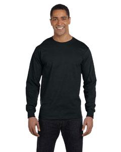 Black 5.2 oz. ComfortSoft® Cotton Long-Sleeve T-Shirt